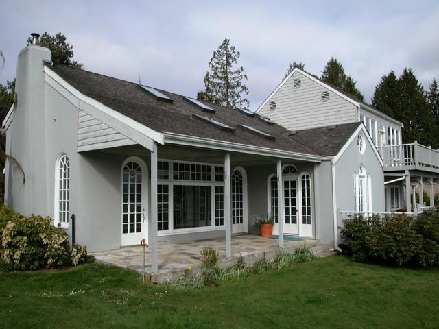 欧式风格三层别墅豪华房子灰色窗帘装修图片