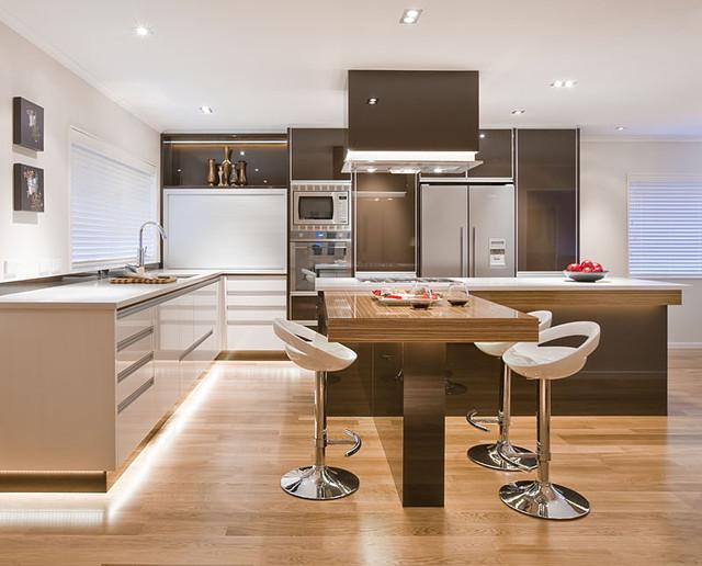 现代简约风格一层半别墅豪华客厅整体橱柜图片
