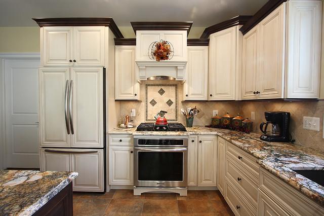 现代简约风格厨房三层平顶别墅豪华客厅整体橱柜定制