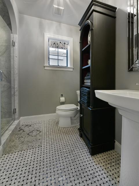 简约风格卧室三层独栋别墅唯美卫浴间瓷砖改造