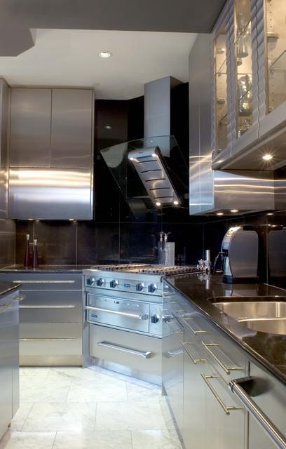 现代欧式风格一层半别墅欧式豪华整体橱柜订做