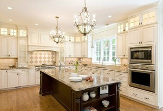 现代简约风格厨房一层别墅及豪华厨房室外灯具效果图