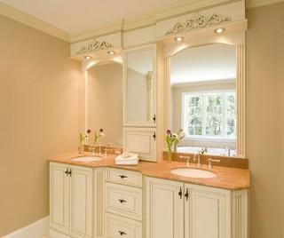 现代简约风格2014年别墅豪华卫生间暖色调效果图