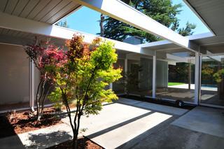 混搭风格客厅一层别墅经济型办公室玻璃隔断设计