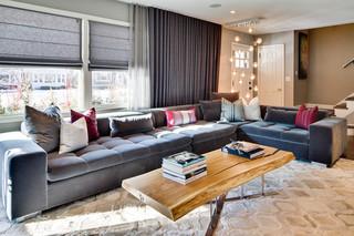 北欧风格卧室三层别墅豪华房子名牌布艺沙发效果图