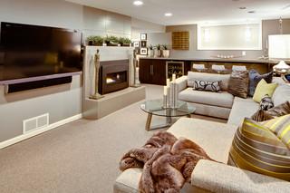 北欧风格客厅2013别墅及豪华房子2013客厅窗帘装潢