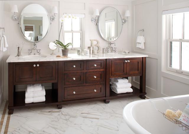 现代简约风格厨房300平别墅豪华房子浴室柜效果图