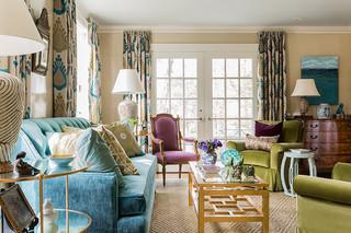 混搭风格客厅三层双拼别墅浪漫婚房布置16平米客厅效果图
