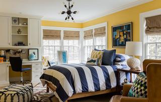 混搭风格一层半小别墅浪漫卧室8平米卧室装修效果图
