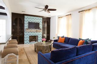 地中海风格三层别墅及豪华房子 客厅效果图