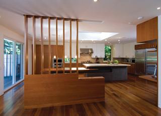 现代简约风格卧室2层别墅豪华客厅木地板效果图