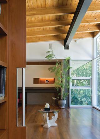 现代简约风格三层别墅及豪华别墅主卧室吊顶效果图
