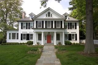 美式风格3层别墅浪漫婚房布置入户花园设计图纸
