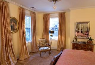 现代美式风格2013别墅浪漫卧室窗帘效果图