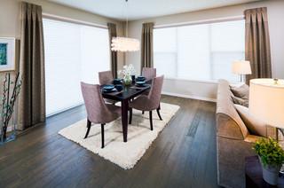 现代简约风格厨房2层别墅豪华房子窗户效果图