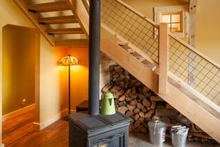 欧式风格50平米复式豪华室内实木楼梯装修效果图
