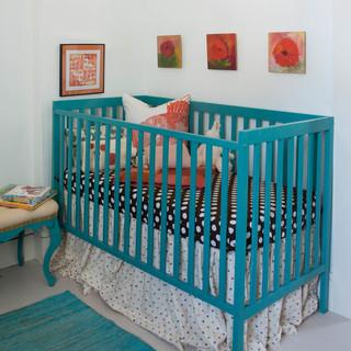 混搭风格客厅浪漫婚房布置富裕型双胞胎婴儿床图片