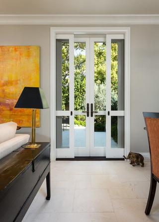 美式风格客厅50平小复式楼唯美阳台门效果图