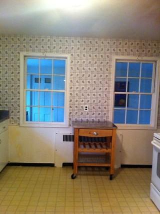 新古典风格温馨米黄色调墙壁2014家装厨房设计