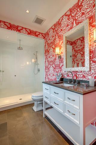 现代简约风格厨房三层半别墅豪华房子大理石背景墙设计