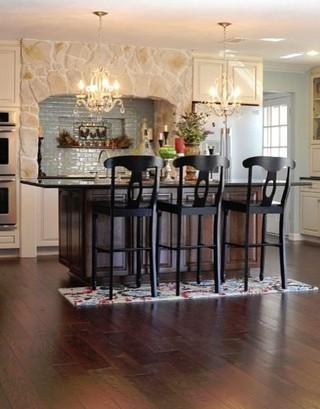 美式风格奢华2012家装厨房折叠餐桌图片