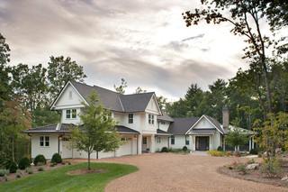 田园风格吊顶三层半别墅小清新私家庭院改造