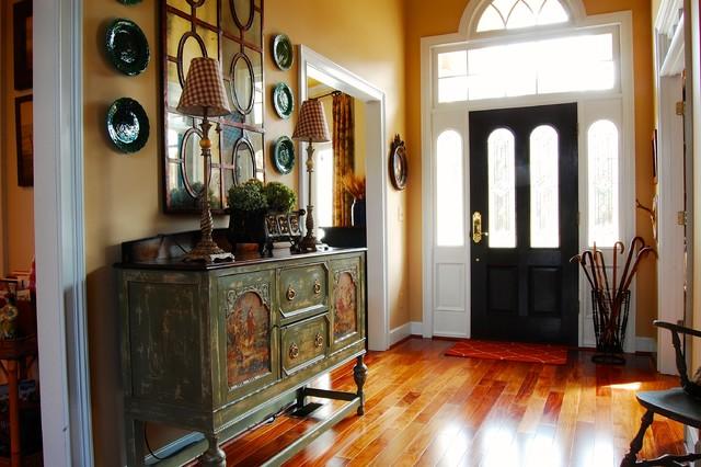 法式风格一层半别墅浪漫婚房布置别墅玄关装修效果图