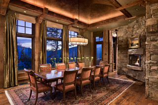 新古典风格卧室精装公寓古典欧式客厅和餐厅的装修效果图