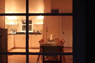 现代简约风格卧室酒店公寓客厅简洁厨房餐厅客厅一体效果图