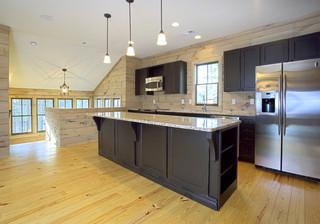 现代简约风格餐厅小型公寓简单实用半开放式厨房装修效果图