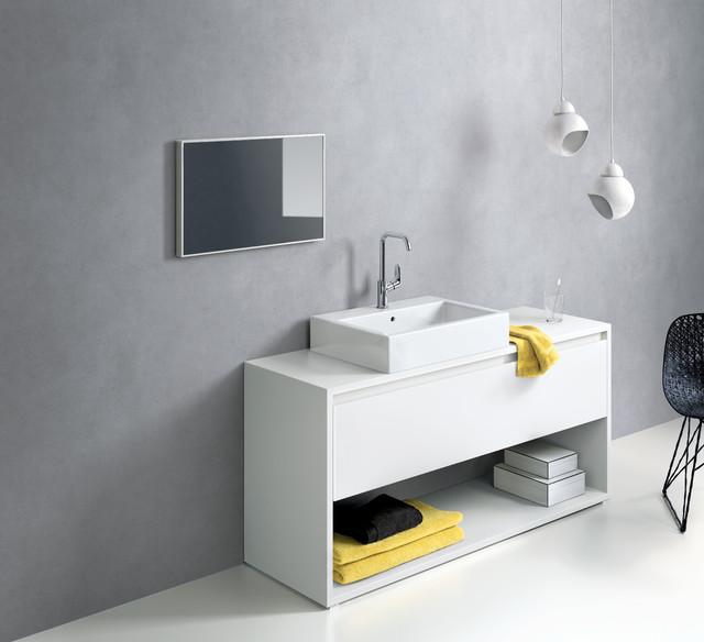 现代简约风格厨房loft公寓客厅简洁实木浴室柜图片