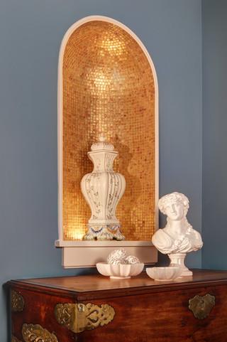 地中海风格室内公寓小清新厨房收纳架图片