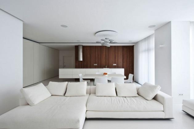 纯白的浪漫 莫斯科引人注目的白色公寓