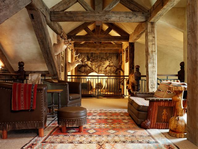 新古典风格一层别墅中式古典家具宜家椅子效果图图片