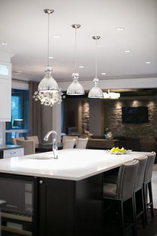 现代简约风格客厅酒店式公寓大气室外灯具效果图