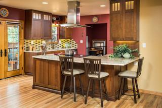 田园风格餐厅可爱房间2014厨房装修效果图