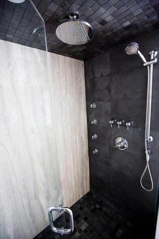 宜家风格酒店公寓大方简洁客厅家庭卫生间隔断装修