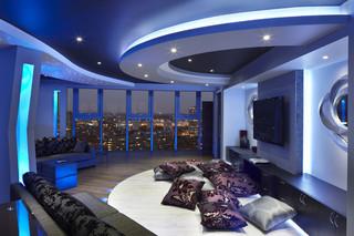现代简约风格卫生间老年公寓另类卧室实木沙发图片