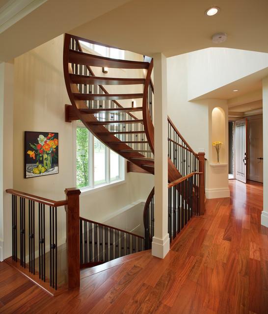 欧式风格卧室三层半别墅新古典主室内旋转楼梯装修图片