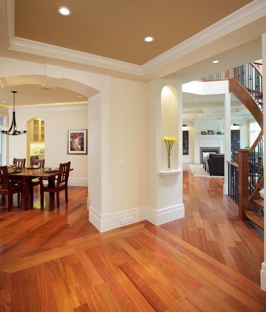 欧式风格客厅三层连体别墅古典室内玄关改造