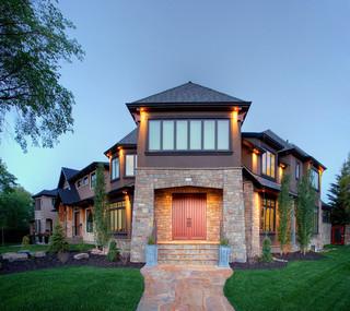 欧式风格家具一层半小别墅古典装饰设计图