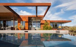 现代简约风格卫生间三层双拼别墅简洁卧室别墅游泳池装修图片