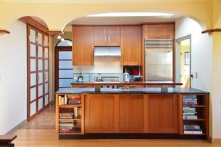 欧式风格客厅酒店式公寓温馨小户型开放式厨房装潢