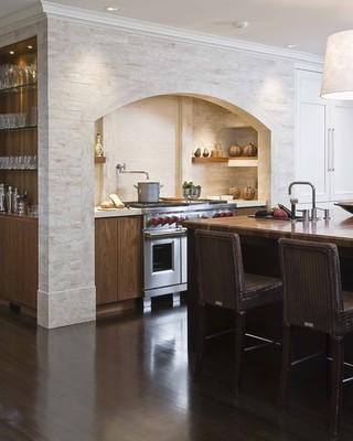 欧式风格客厅复式公寓现代奢华半开放式厨房装修效果图