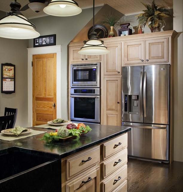 美式田园风格复式客厅装饰小清新整体橱柜定制高清图片