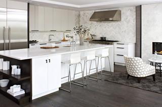 中式简约风格老年公寓时尚家居2014家装厨房效果图