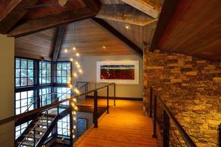 现代欧式风格loft公寓奢华室内装修楼梯效果图