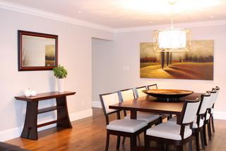 现代欧式风格复式公寓温馨装饰套房餐厅效果图