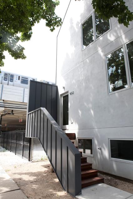 现代简约风格卫生间酒店式公寓现代时尚复式楼楼梯装修效果图