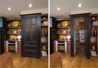美式乡村风格卧室乡村别墅大气厨房推拉门装修效果图